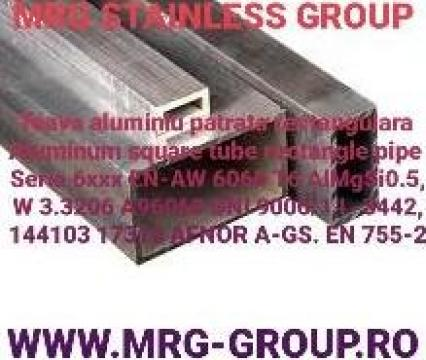 Teava aluminiu dreptunghiulara 80x50x2mm