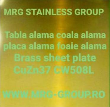 Tabla alama 0.4x1000x2000 CuZn37 CW508L cupru, inox