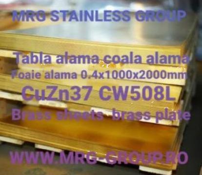 Tabla alama 0.4mm, coala foaie alama brass sheet aluminiu de la MRG Stainless Group Srl