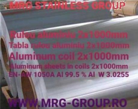 Rulou aluminiu 2x1000 EN AW 1050A