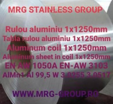 Tabla rulou aluminiu 1x1250mm EN AW 1050A EN-AW 3103 Al 99,5