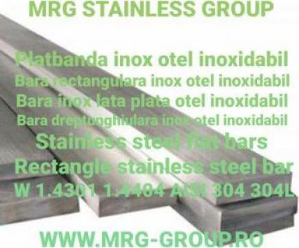 Bara lata inox 60x4x6000mm platbanda AISI 316L 304 W1.4404 de la MRG Stainless Group Srl