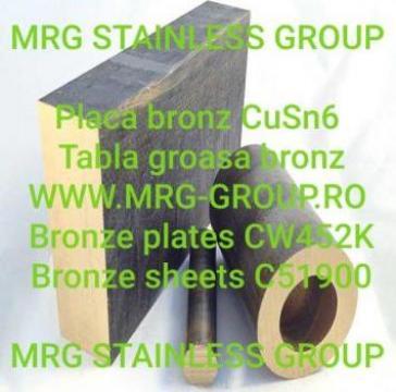 Placa bronz CuSn6 tabla bronz CW452K C51900 cupru, alama de la MRG Stainless Group Srl