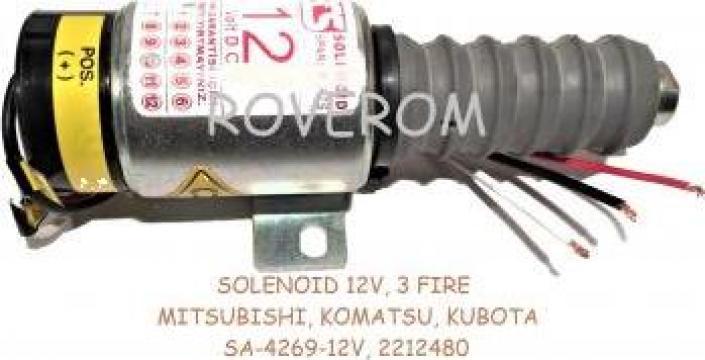 Solenoid 12V, 3 fire, Komatsu, Kubota Mitsubishi