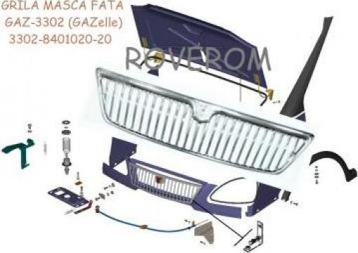 Grila masca fata Gaz-3302 (GAZelle), Gaz-2705,Gaz-2572 Sobol de la Roverom Srl