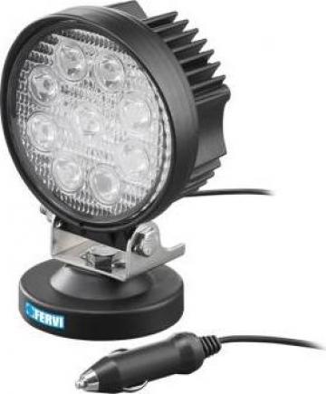 Lampa LED 27 W cu talpa magnetica 0713/27 de la Proma Machinery Srl.