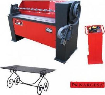 Masina de torsionat fier forjat la rece MT500A de la Proma Machinery Srl.