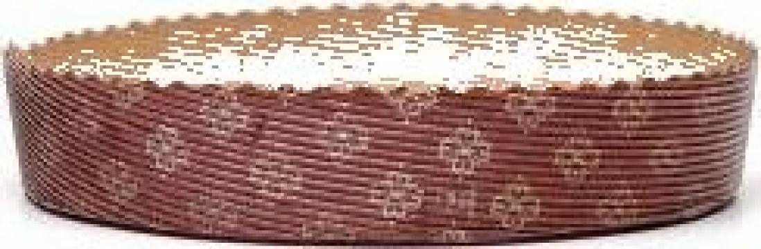 Forma din carton pentru copt pasca P185/35 de la Cristian Food Industry Srl.