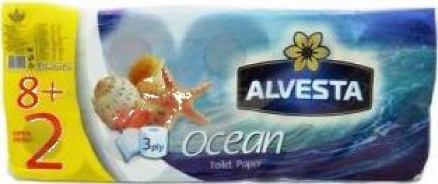 Hartie igienica Alvesta Ocean 10 role/bax de la Cristian Food Industry Srl.