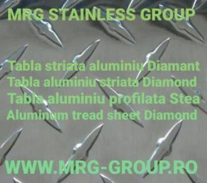 Tabla aluminiu striata Diamant 1.5x1250x2500mm decorativa