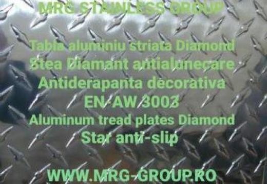 Tabla aluminiu striata antialunecare Stea 1.5x1250x2500mm