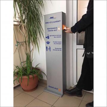 Dispenser dezinfectant cu pedala de la Maxsim Concept Srl