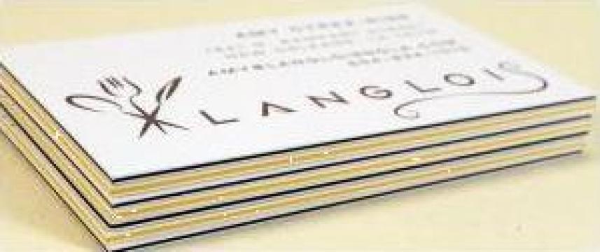 Carti de vizita carton multistrat de la Sian Image Media Srl