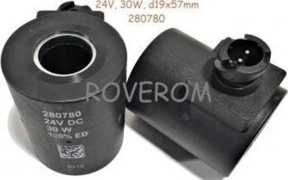 Bobina 24V, d19x57mm, 30W, Liebherr R902 de la Roverom Srl