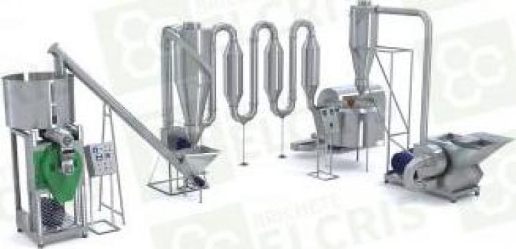 Linie de brichetare PK 250 kg/h cu sistem complex de tocare de la Brichete Elcris Srl