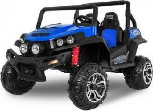 UTV electric pentru 2 copii Golf-Kart 210W 24V Premium #Blue