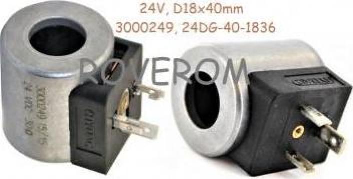 Bobina 24V, D18x40mm, electrovalva hidraulica, conexiune DIN de la Roverom Srl