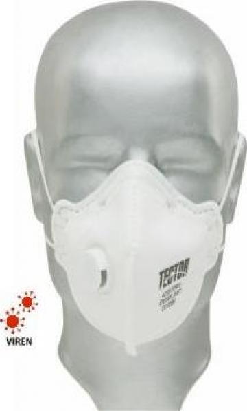 Masca protectie particule Tector - clasa FFP3 - cu ventil de la Hoba Ecologic Air System Srl
