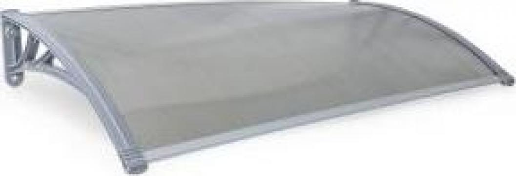 Acoperis de intrare Modulo, fumuriu, 6 mm, 75x150 cm de la Hille Group Srl