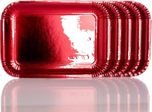 Tavite groase carton rosu metalizat N.7=6 (26x33,5cm) de la Cristian Food Industry Srl.