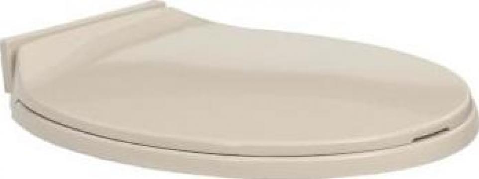 Capac WC cu inchidere silentioasa, roz caisa, oval