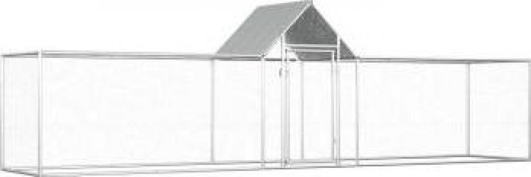 Cotet de gaini, 5 x 1 x 1,5 m, otel galvanizat de la Vidaxl