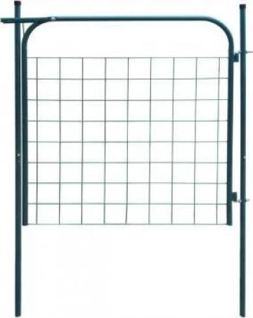 Poarta pentru gard de gradina 100 x 100 cm, verde