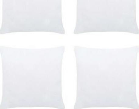Umpluturi de perne, 4 buc., alb, 45 x 45 cm de la Vidaxl