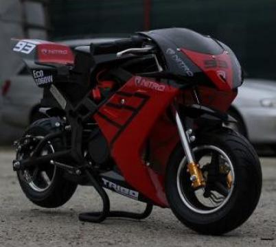 Jucarie motocicleta electrica, Nitro Eco Tribo 1060W 36