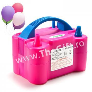 Pompa electrica, pentru umflat baloane, cu 4 capete