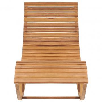 Sezlong balansoar, lemn masiv de tec de la Comfy Store