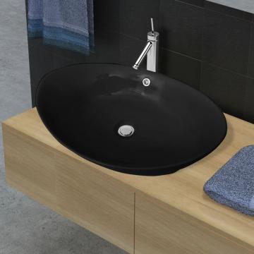Chiuveta ceramica ovala neagra de la Comfy Store