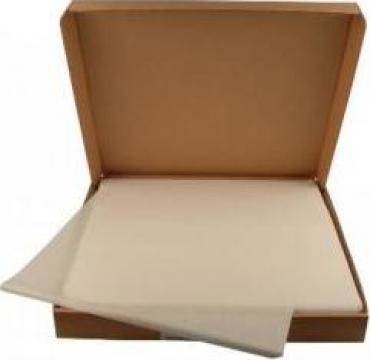 Hartie alba cu polietilena 50/10 27x27cm 1000 coli/cutie de la Cristian Food Industry Srl.