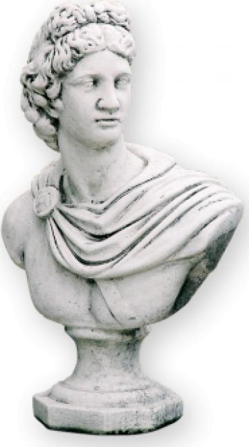 Decoratiune gradina statuie-bust Fanciulo SB10 de la Cementarte Srl