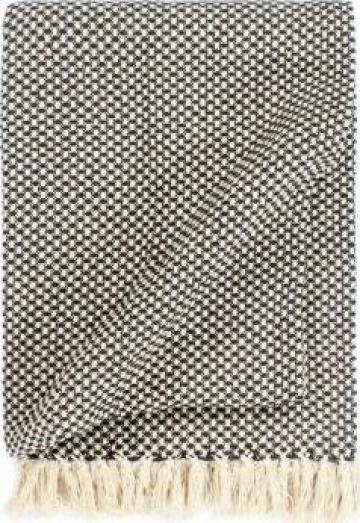 Patura decorativa, antracit, 160 x 210 cm, bumbac de la Vidaxl