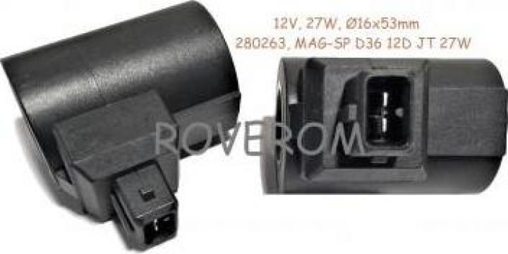 Bobina 12V, d16x53mm, electrovalava hidraulica
