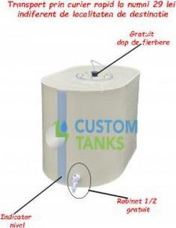 Butoi fibra sticla pentru depozitare vin, apa, lapte, ulei de la Custom Tanks Srl