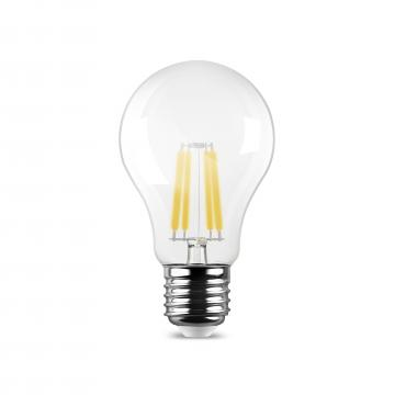 Bec LED filament transparent 7W, 800LM, 6500K, A60, E27