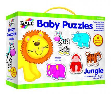 Joc Baby Puzzle: Animale din jungla (2 piese)