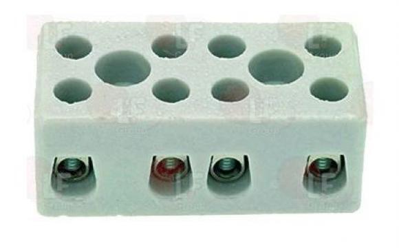 Bloc regleta de conexiuni 4 poli, ceramic 3247005