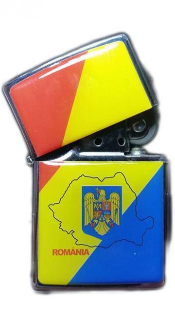 Bricheta metalica cu benzina Romania Stema de la Dali Mag Online Srl