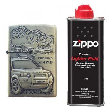 Bricheta zippo, 3D relief, metalica, king of 4wd de la Dali Mag Online Srl