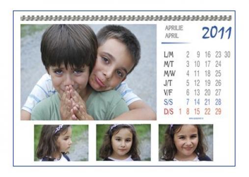 Calendar personalizat de perete CALP014 de la Apia Prest Srl