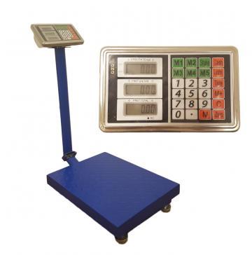 Cantar cu platforma electronic pliabil 300kg 40 x 50 cm