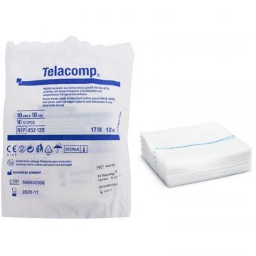 Comprese sterile, fir radio opac X-ray detectabil, pliate