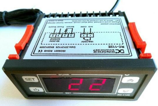 Controller electronic -40 ... +99*C, 220Vac