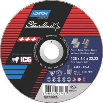 Disc taiere Norton Starline 125x6mm de la ICG Center