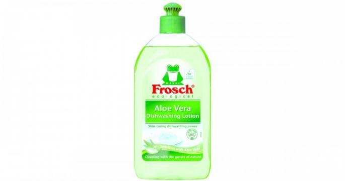Detergent lichid de spalat vase cu Aloe vera Frosch 500ml de la Pepita.ro