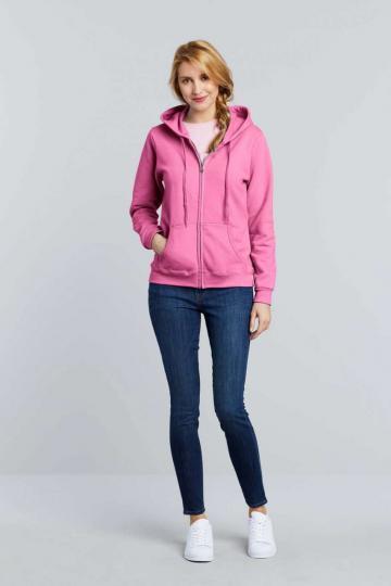 Bluzon Heavy Blend Ladies' Full Zip Hooded Sweatshirt