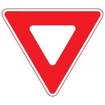 Indicator trafic rutier Cedeaza trecerea, reflectorizant de la Sirius Distribution Srl